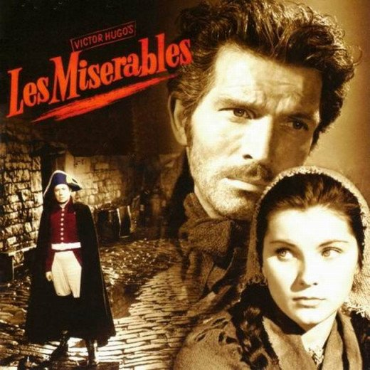 Les Miserables (1952) poster