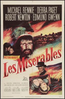 Les Miserables (1952) poster