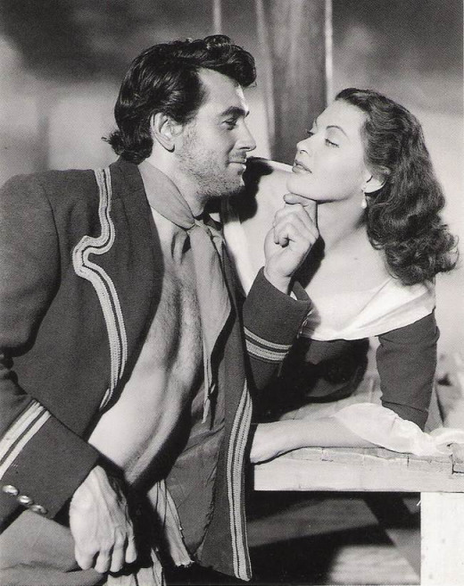 Rock Hudson and Yvonne De Carlo in Sea Devils (1953)