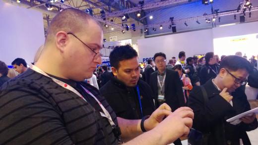 Steve & Mark looking at phones