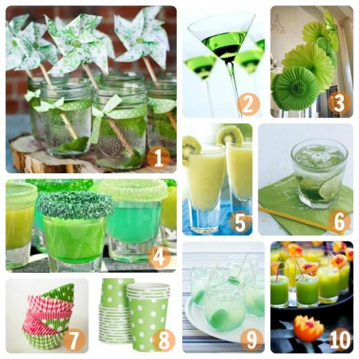 Green Wedding Cocktails