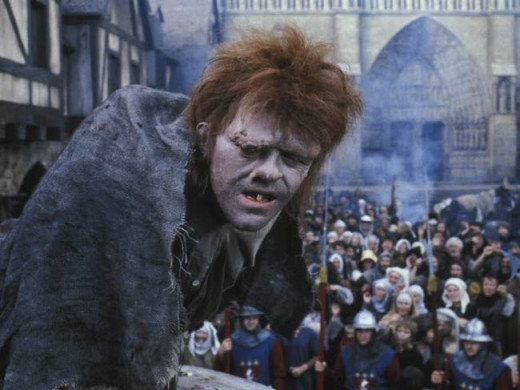 Anthony Hopkins as Quasimodo in The Hunchback of Notre Dame (1982)