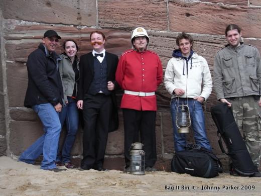 The dog poo crew, Johnny, Helen, Andrew, Mark and Ian.