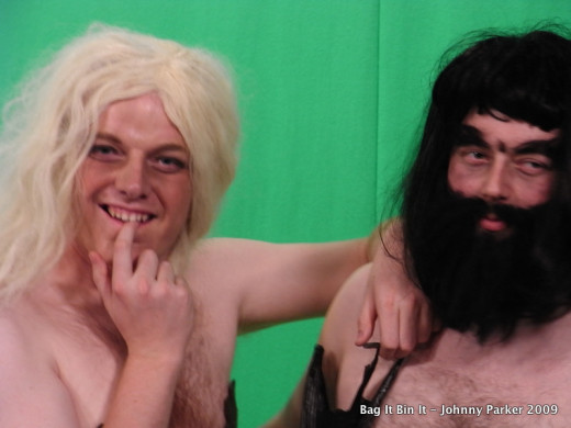 The very brave Andrew and Mark alias Eve and Adam. Amazing beard couresy of Helen Quinn.