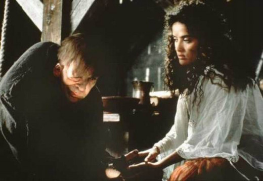 Mandy Patinkin and Salma Hayek in The Hunchback of Notre Dame (1997)