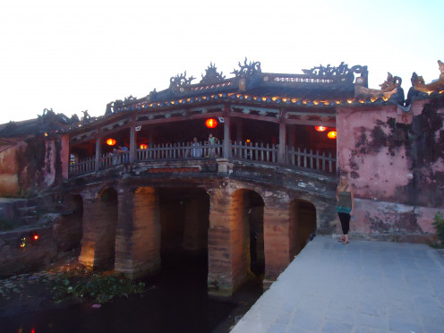 Japanese Covered Bridge, one of the key landmarks in Hoi An