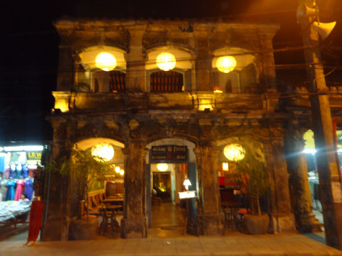 Example of classic colonial-era architecture that is common throughout Hoi An