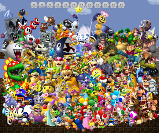 The incredible array of characters seen throughout the Mario Party installments.