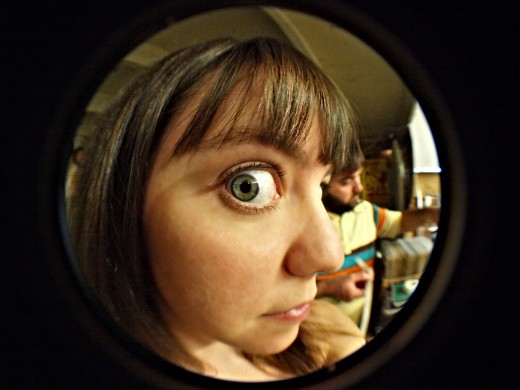 Looking Through A Peephole