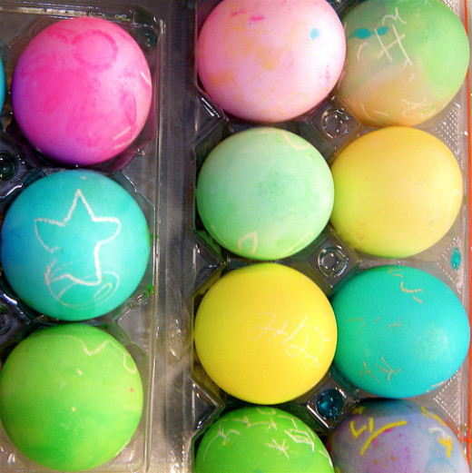 What to do with leftover dyed Easter eggs?
