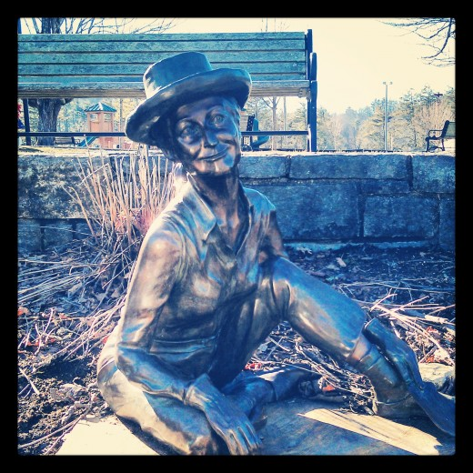 """The Gardener"" statue in Blowing Rock, North Carolina."