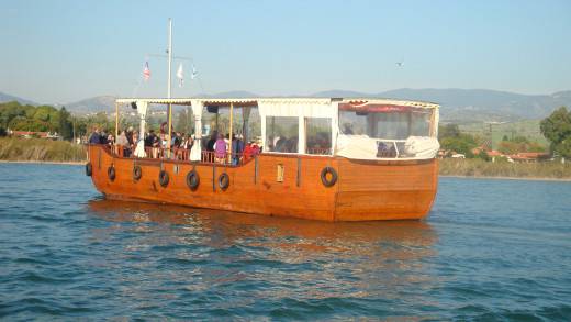 One of The Two Wooden Boat That Alternates The Boat Ride On The Sea of Galilee. I Was In The Second Boat Taking This Picture. Image is the property of Comfort Babatola -Copyright Protected