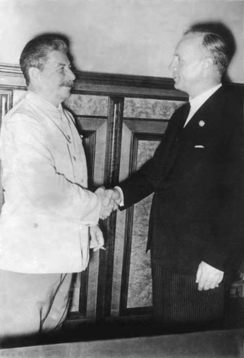 Moscow: Stalin and Ribbentrop in the Kremlin, August 23, 1939
