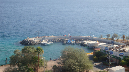 View of the Red Sea from the hotel window