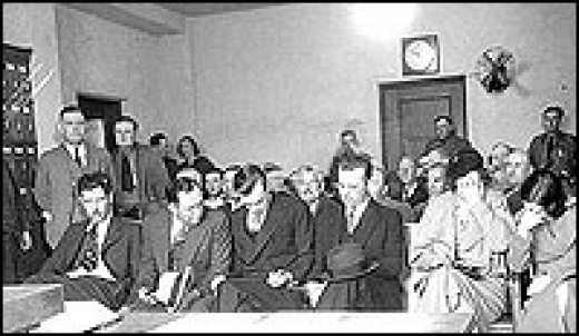 Dillinger Gang at Arraignment after Tucson Capture