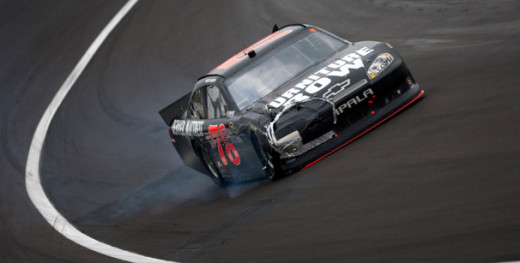 This hasn't been an uncommon sight for Kurt Busch-driver racecars the last few years