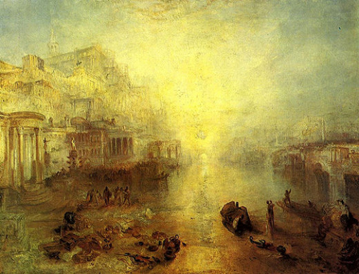 William Turner- Ovid Banished from Rome from paintingiant  Source: flickr.com