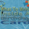 What To Write Inside A Birthday Card