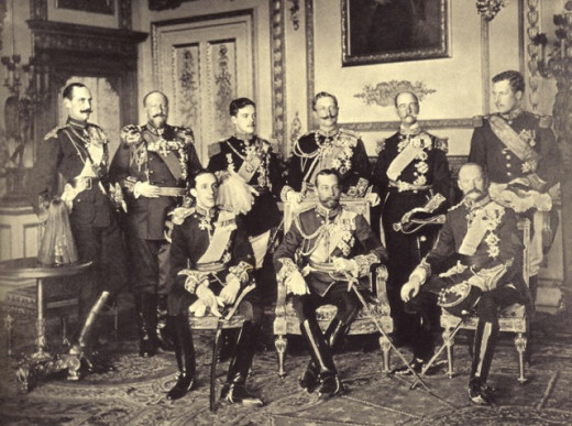 9 kings featured in one photo (Windsor Castle, 20 May 1910).