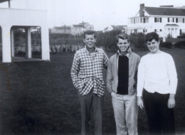 The Kennedy trio in the mid 30s as teenagers; John, Bobby and Teddy.