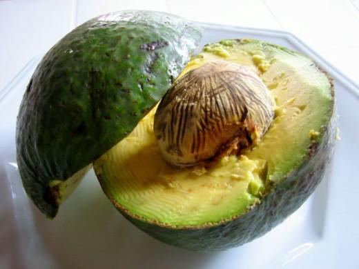 Avocado; low in fat, high in vitamin B6 and folic acid.