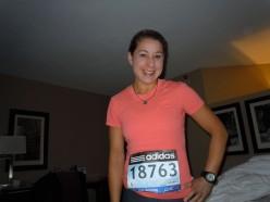 Getting ready to run the Boston Marathon