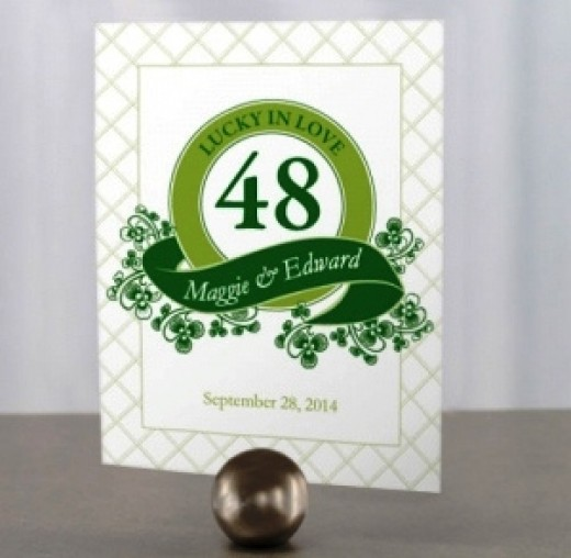 Luck of the Irish Table Cards