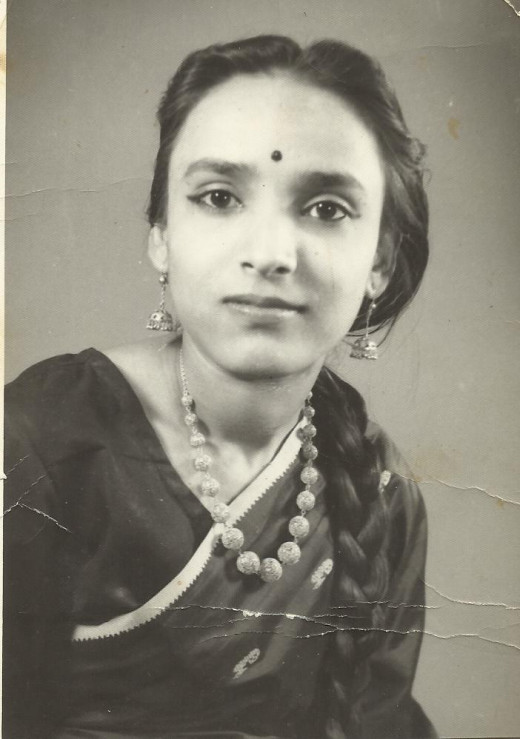 A photo of younger days of my mother. I love her, and this is a dedication to her.  This photo is my property. Please do not copy or use it.