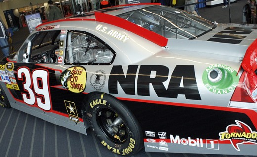 The NRA has previously sponsored individual teams such as the Stewart-Haas racing car driven by Ryan Newman
