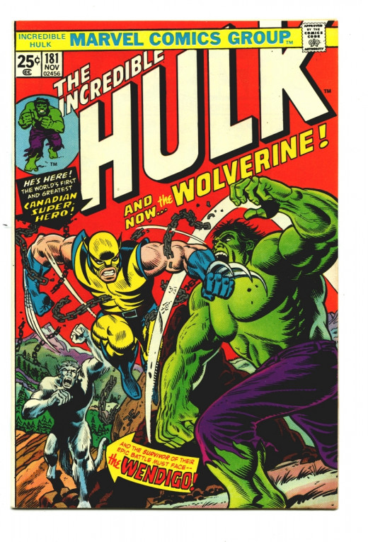 The cover of Hulk 181 as you can see it looks really cool.