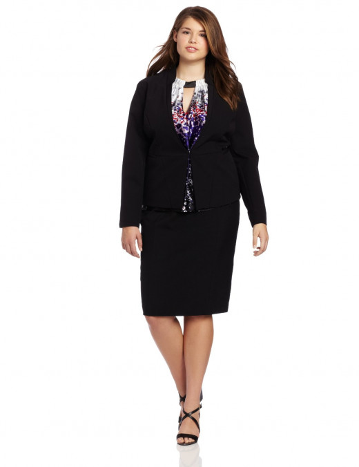 Kenneth Cole Women's Plus-Size Blazer
