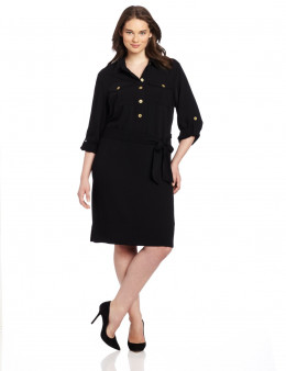 Jones New York Women's Plus-Size Long Sleeve Tunic Dress