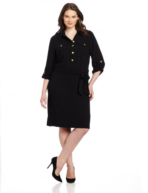 Jones New York Women's Plus-Size Long Sleeve Tunic Dress