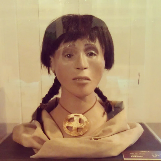 Reconstruction of Pee Dee female, aged 18-25: from the Town Creek Indian Mound exhibit