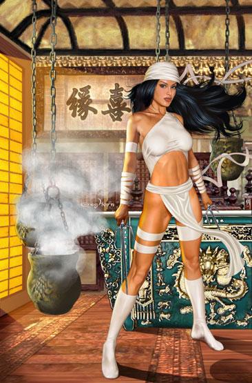 Elektra White Costume