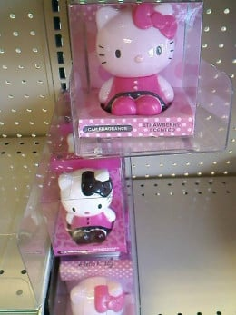 And what about a Hello Kitty car freshener? I saw this Hello Kitty freshener when we went to Marukai Value Plus.