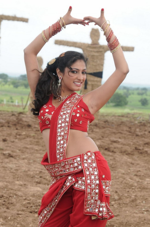 Haripriya in traditional dance costume.