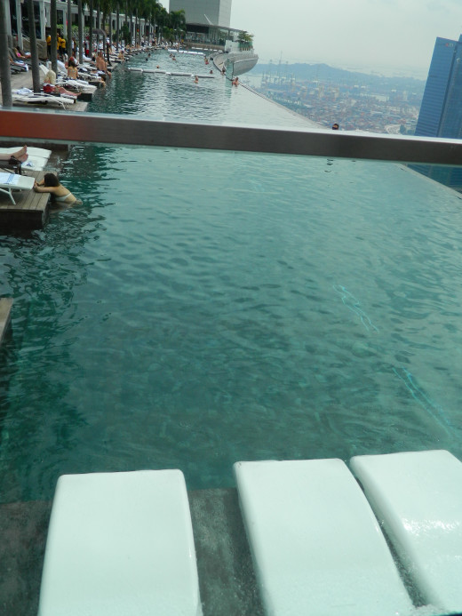 Infinity Pool at Marina Bay Sands for guests only