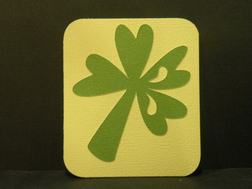 Shamrock adhered to background