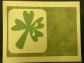 Shamrock/background adhered to card