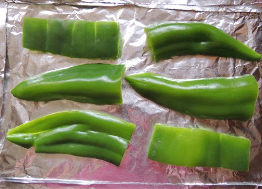 flatten, place on foil and place under broiler