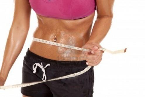 sweaty athletic  woman