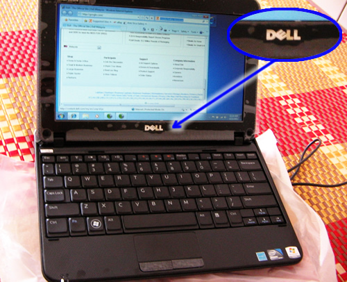 My Dell Mini 10 laptop, the picture was taken a few weeks after I bought it a couple of years ago.