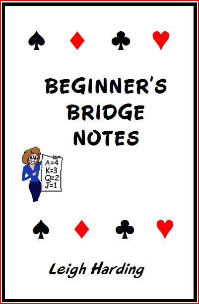 Beginner's bridge notes, including instructions on how to play mini bridge