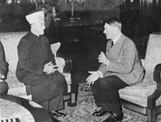 Haj Amin al-Husseini meeting with Adolf Hitler on 28 November 1941