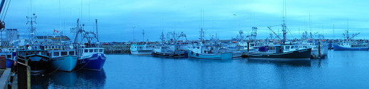 Lobster boats.
