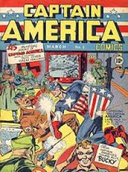 Captain America shows Hitler who's boss.