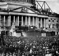 Abraham Lincoln's first Inauguration, 1861