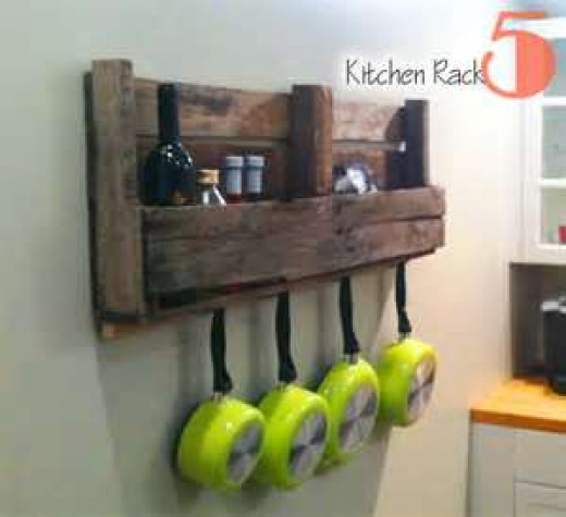 Kitchen pallet wall center