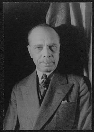 James Weldon Johnson photographed by Carl Van Vechten, Dec. 3, 1932.